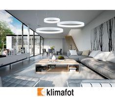 Αποκτήστε κομψά κρεμαστά φωτιστικά #LED με περιμετρικό φως σε λευκό χρώμα με έκπτωση -10%, ιδανικά για μοντέρνους λαμπερούς χώρους! #Interior #Modern #Stylish #WinterSales #Klimafot Decor, Conference Room, Furniture, Table, Home, Home Decor, Room