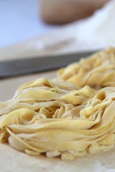 Learn how to make tagliatelle with Filippo's step-by-step recipe. This basic pasta dough recipe can be used to make any pasta shape, although tagliatelle is particularly quick and easy.