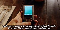 Never alone with a phone