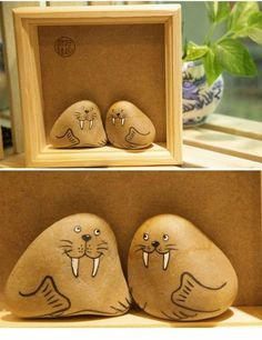 Thinking about what gift you should give to a friend? A cute home decoration of two walruses will do the job. It's personalized and cheap.