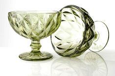 Zelená krása hrubého skla Wine Glass, Tableware, Dinnerware, Tablewares, Dishes, Place Settings, Wine Bottles