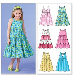 Details About Sewing Pattern Makes Dress Sundress 6 Styles Sizes Toddler 2 To Child 8 Girl Sewing Pattern To Make Your Choice Of Two Sizes Little Girl Dress Patterns, Summer Dress Patterns, Children's Dress Patterns, Toddler Dress Patterns, Dresses Kids Girl, Girl Outfits, Children Dress, Sun Dresses, Sundress Pattern