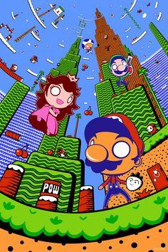 """""""The 8 Bits of Subcon - Super Mario Bros. 2"""" by GoshaDole.deviantart.com on #deviantART #retrogaming"""