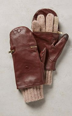 Pop-Top Leather Gloves #anthrofave