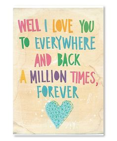Another great find on #zulily! 'Everywhere and Back' Wall Art #zulilyfinds