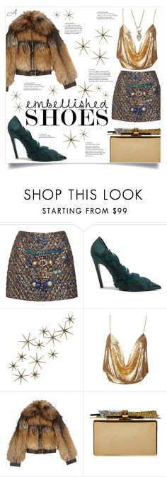 """Embellished"" by andragabriela on Polyvore featuring Dolce&Gabbana, Balenciaga, Global Views, Alexander McQueen, Edie Parker and Temple St. Clair"