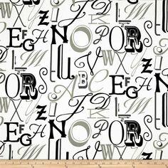 Valances. Alphabet Black/Grey. Kids room by TwistedBobbinDesigns