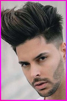Stylish Long Straight Hairstyles and Cuts ideas for Mens with Long Face in 2020 Mens Hairstyles Fade, Popular Hairstyles, Straight Hairstyles, Cool Hairstyles, Short Pompadour, Pompadour Hairstyle, Faded Hair, Slicked Back Hair, Neckline Designs