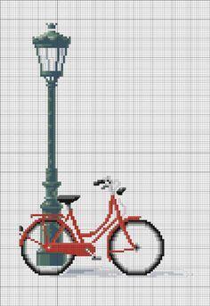 """Vélo à Paris grille issue du livre """" Rues de Paris au point de croix"""" d'Anne Sohier Fournel offerte sur le site Prima"""