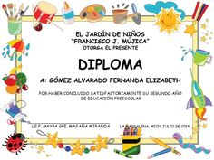 Modelos de diplomas de preescolar para editar - Imagui