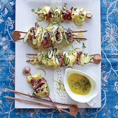 Grilled Squash Ribbons and Prosciutto with Mint Dressing Recipe ...