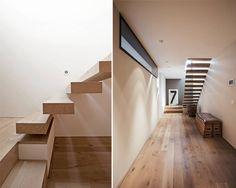 Modern corridor, hallway & stairs by meier architekten Modern, Contemporary, Corridor, Stairs, Traditional, Design, Staircases, Hallways, Home Decor