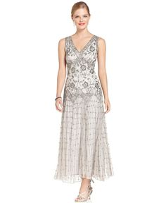 PISSARO NIGHTS 2113- 2086-  2133 Robe Perlee Cousue en fil D'argent. Taille 38 44 46.