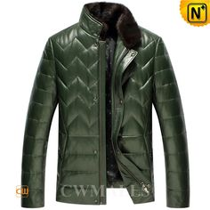CWMALLS Fur Collar Down Filled Leather Jacket CW846039 Warm and easygoing mink fur collar leather jacket crafted with smooth lambskin leather shell, warm down filled and quality lining. Superb quality down filled leather jacket designed in removable mink fur collar, qulited and front zipper closure. www.cwmalls.com PayPal Available (Price: $597.89) Email:sales@cwmalls.com