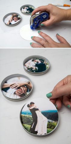In a few quick steps, you'll be able to create a darling and useful resin coasters using your favorite photos! Perfect for wedding or vacation photos!