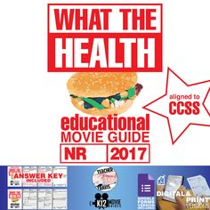 This What the Health Documentary Movie Guide | Questions | Worksheet (2017) challenges students to think about what they put into their bodies each day and consequences of their decisions. #WhatTheHealth #Documentary #GoogleClassroom #GoogleForms #Teachers #MovieGuides #LessonPlans #TPT #TeachersPayTeachers #CCSS #CoronaVirus #Homeschooling #RemoteLearning #DistanceLearning #StaySafe