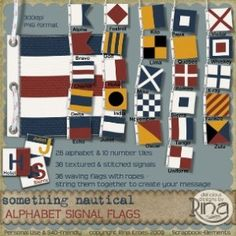 vintage nautical flags