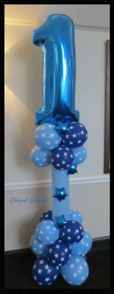 1st birthday column - www.elegant-balloons.com