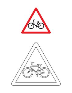 traffic sign coloring page download free cycle crossing traffic sign