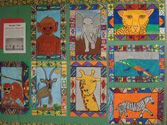 Ndebele African Animal Drawings