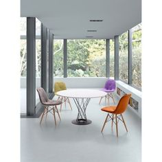 Modern Wood and Velour Dining Chair - Orange - ZM Home White Glass Dining Table, Gray Dining Chairs, Dining Room Furniture, Modern Chairs, Side Chairs, Office Furniture, Kitchen Chairs, Mod Furniture, Desk Chairs