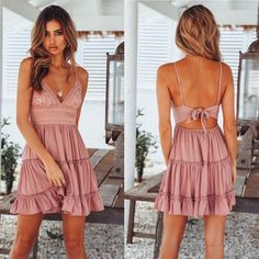 Fresh Hook Flower Fold Stitching Backless Sling Lady Summer Dress – wikoco Source by dresses for graduation Modest Dresses, Fall Dresses, Cute Dresses, Casual Dresses, Fashion Dresses, Prom Dresses, Dresses For Teens Wedding, White Bridesmaid Dresses, Summer Dresses For Women