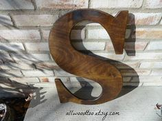 Rustic Wood Letters Large Uppercase Letter S Wedding Signs Signature Letters Guest Book Alternatives Baby Name Letters Home Decor Photo Prop