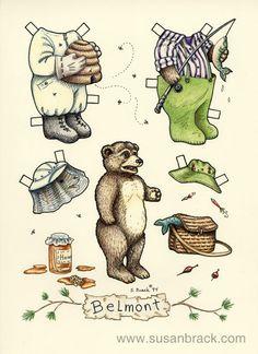 Belmont bear paper doll by Susan Brack .............. ................................♥...Nims...♥