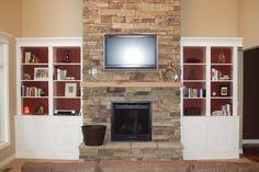 Bookshelf Next To Fireplace | Scenar Home Decor