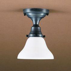 "Northeast Lantern Pendant 8"" Medium Base Socket Semi Flush Mount Finish: Dark Antique Brass, Shade Color: 50W White"