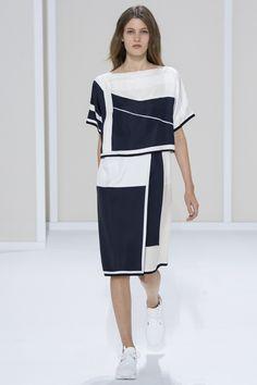 Défilé Hermès Printemps-été 2016 Robe Noire Et Blanche, Printemps Été 2016,  Prêt 90a1f0e0d0e