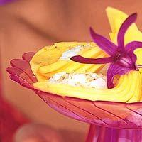 Kokos-kleefrijst met mango