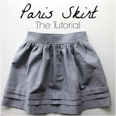 "Tuto jupe ""Paris"" - Paris skirt tutorial by ""Nothing too fancy"" Sewing Patterns Free, Free Sewing, Sewing Tutorials, Sewing Hacks, Sewing Projects, Dress Tutorials, Coat Patterns, Tutorial Sewing, Skirt Patterns Sewing"