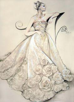 婚纱手绘图
