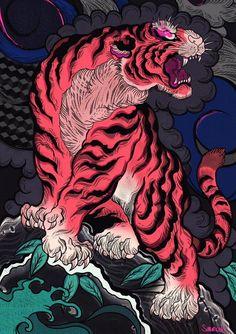 Tattoo Japanese Style, Japanese Art Styles, Japanese Drawings, Japanese Artwork, Japanese Tattoo Designs, Tattoo Design Drawings, Art Drawings, Pop Art Wallpaper, Snake Wallpaper