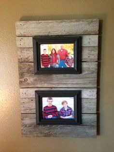Pallet wood with 5x7 picture frames