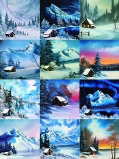"""Statistics explained using Bob Ross paintings. Paintings by Bob Ross featured on PBS's """"The Joy of Painting."""" Ethereal Watercolor Paintings Beautifully Simple and Easy Landscape Painting IdeasAbstract Art, Cloud Painting Print , Cloud Print ,… The Joy Of Painting, Watercolor Landscape, Landscape Paintings, Watercolor Flowers, Peintures Bob Ross, Bob Ross Art, Bob Ross Paintings, Art Abstrait, Learn To Paint"""