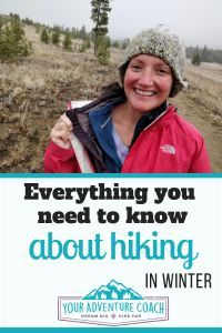 Learn everything you need to know about hiking in winter like what to wear, extra gear to bring on winter hikes, plus tips and tricks to keep you safe and warm on your next winter hike. Winter Hiking, Winter Camping, Hiking Tips, Camping And Hiking, Hiking Gear, Hiking Backpack, Kayak Camping, Camping Guide, Backpacking Tips
