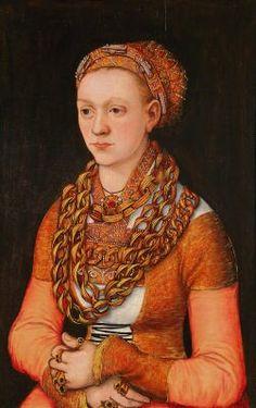 Portrait of Anna Buchner, née Lindacker  by Lucas Cranach the Elder, c. 1520  Minneapolis Institute of Arts