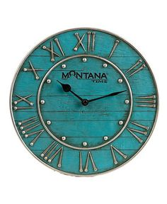 Sites-sheplers_us-Site Montana Silversmiths Horseshoe Nail Wall Clock Living Room Colors, Living Room Decor, Living Rooms, Horseshoe Nail Art, Turquoise Walls, Turquoise Wall Decor, Teal, Small Flower Gardens, Western Homes