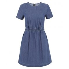 Waisted Denim Dress by Poem