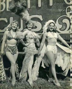 Vintage circus performers