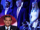 Republicans are restrained from Ted Cruz while wife Heidi is escorted off Convention floor | Daily Mail Online