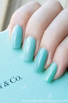 73912e3a1d3 China Glaze  For Audrey  comparison Tiffany Blue Nails