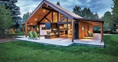 40 Amazing Craftsman Style Homes Design Ideas - Prefab - . 40 Amazing Craftsman Style Homes Design Ideas - Prefabricated House - House Fan visitor chair / swiv. Metal Barn Homes, Pole Barn Homes, Pole Barns, Metal Homes Plans, Prefab Barn Homes, Pole Barn Garage, Steel Building Homes, Building A House, Metal Building Houses