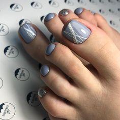27 Adorable Easy Toe Nail Designs 2020 – Simple Toenail Art Designs : Page 4 of 25 : Creative Vision Design - 27 Adorable Easy Toe Nail Designs 2020 – Simple Toenail Art Designs : Page 4 of 25 : Creative Vis - Pretty Toe Nails, Cute Toe Nails, My Nails, Pretty Toes, Glitter Toe Nails, Gel Toe Nails, Simple Toe Nails, Gel Toes, Blue Nails