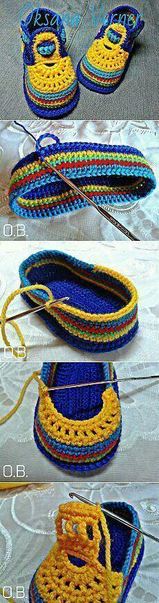 Crochet Baby Booties Slippers |