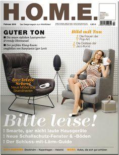 In copertina questo mese su H.O.M.E Poltrona grigia Class di Vibieffe www.vibieffe.com