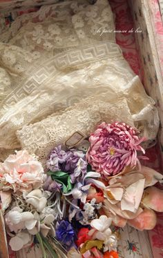 Vintage lace and millinery