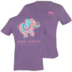 Simply Southern Preppy & Happy Rose Elephant Bright Girlie T-Shirt